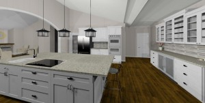 Space planning & design for the kitchen remodeling project in Gilbert, AZ