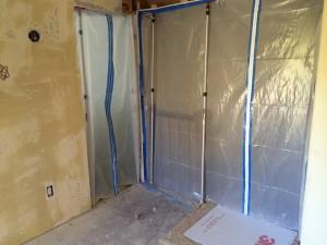 Phoenix, AZ Remodel Contractor dust barrier