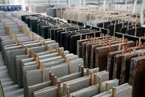 slab granite countertop selection warehouse